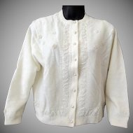 Ladies Vintage Sweater - Eloquent Beadwork – Kowloon Hong Kong – 1960's