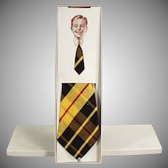 Boy's Vintage Plaid Necktie from J.C. Penney with Original Box