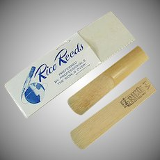 Vintage Bamboo Reeds - Two Rico Reeds with Original Package