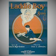 Vintage Sheet Music - 1925 Laddie Boy - Dedicated to Orphans