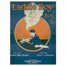 Vintage Sheet Music - 1925 Laddie Boy - Dedicated to Orphans