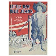 Vintage Sheet Music - 1928 Little Boy Blue Jeans by Gus Kahn