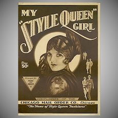 Vintage Sheet Music - 1929 My Style Queen Girl - 1929