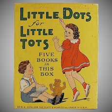 Child's Vintage Little Dots for Little Tots Toy Box - Platt & Munk