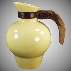 Vintage Gladding McBean Pottery Carafe with Original Lid - Yellow Arcadia Pattern