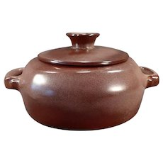 Vintage Frankoma Pottery - Plainsman 5V Casserole with Lid – Brown Glaze