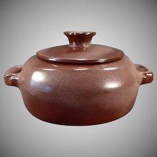 Vintage Frankoma Pottery - Plainsman 5V Casserole with Lid – Brown Glaze
