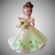 Vintage Josef Original Figure - August Birthday Girl – Peridot Birthstone