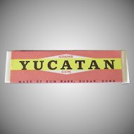Vintage Adams Yucatan Chewing Gum Stick