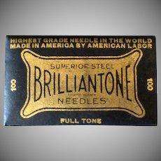 Vintage Steel Phonograph Needles - Brilliantone 100 - Full Unopened Package