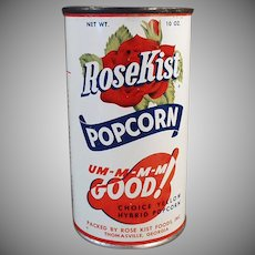 Vintage Popcorn Tin - Unopened Rose Kist Pop Corn Tin