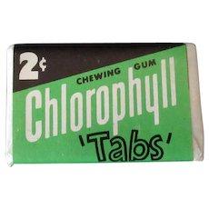 Vintage 2c Chlorophyll Chewing Gum Tab - 1952