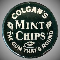 Vintage Gum Tin - Colgan's Mint Chips Tin - 1910
