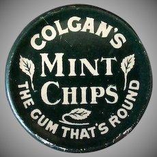 Vintage Gum Tin - Colgan's Mint Chips Tin - 1910