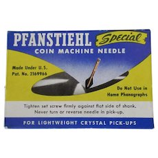 Vintage Pfanstiehl Phonograph Needle for Late Model and Converted Coin-Operated Phonographs