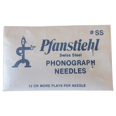 Vintage Swiss Steel Phonograph Needles - Pfanstiehl - Unopened Package