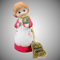 Vintage Merri-Bells Christmas Bell with Original Hang Tag – 1978 Jasco