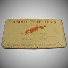 Vintage Renold Cycle Chain Tin - Bicycle or Motorcycle Chain Tin