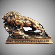 Vintage Lion International Advertising Paperweight