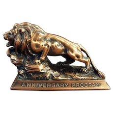 Vintage Lion International Advertising Paperweight