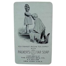 Vintage 1917 Celluloid Calendar - Packer's Tar Soap Advertising with Young Children