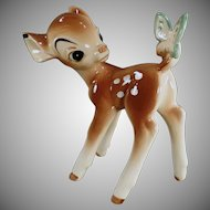 Vintage Enesco Bambi with Butteryfly - Disney Figurine
