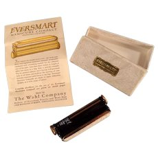 Vintage Eversmart Manicure Compact with Original Box - Black and Gold