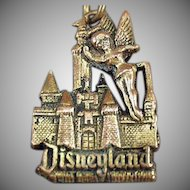 Vintage Disneyland Key Chain - Tinkerbell and the Magic Kingdom