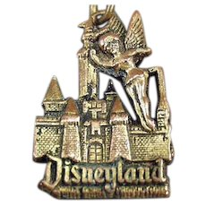 Vintage Disneyland Key Chain - Tinkerbell and the Magic Kingdom
