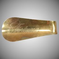 Vintage Advertising Shoe Horn – Unusual Finish - Fortune Shoes For Men