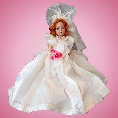Vintage Duchess Bride Doll – Auburn Hair and Blue Eyes