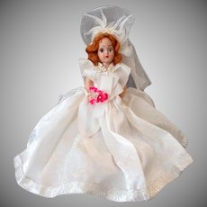 Vintage Duchess Bride Doll – Auburn Hair and Blue Eyes