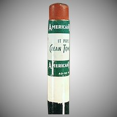 Vintage Wood Advertising Pencil - American Linen Supply Company