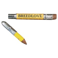 Vintage Advertising Bullet Pencil - Breedlove Live Stock Commission Co. Fort Worth Texas