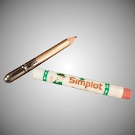 Vintage Advertising Bullet Pencil -  Simplot Company