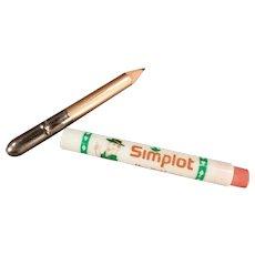 Vintage Advertising Bullet Pencil -  Simplot Company