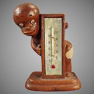 Vintage Black Memorabilia - 1949 Multi-Products Black Boy Thermometer