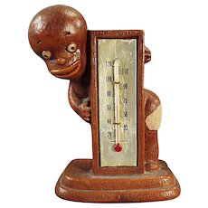 Vintage Black Memorabilia - 1949 Multi-Products Black Boy Thermometer
