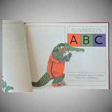 Vintage Ed Emberley's ABC Book – 1978 First Edition Educational and Fun