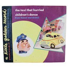 Child's Vintage Little Golden Record - The Taxi That Hurried 78 Record