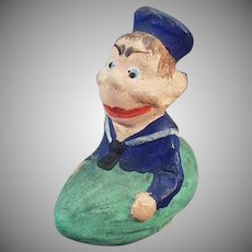 Vintage Candy Container - Funny Sailor Boy in a Pickle Boat - Germany