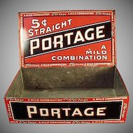 Vintage Portage Cigars Tin - Counter Display Tobacco Tin