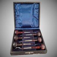 Vintage Six Ezra F. Bowman Engraving Tools - Set 6 with Box