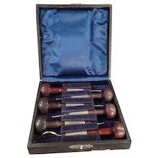 Vintage Ezra F. Bowman Engraving Tools - Set of (6) Six with Box