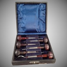 Vintage Six Ezra F. Bowman Engraving Tools - Set 6 with Box