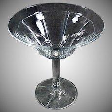 Vintage Heisey Heisey #411 Rib & Panel Stemmed Compote Serving Dish