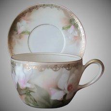 Vintage Cup & Saucer - Reinhold Schlegelmilch Tillowitz R.S.Germany - Floral