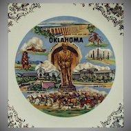 Vintage Oklahoma Souvenir Plate - Oklahoma Landmarks Will Rogers