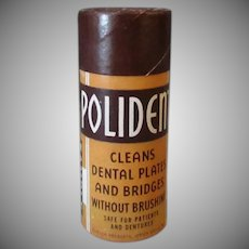 Vintage Polident Tooth Powder Sample - Denture Powder