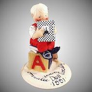Vintage Annalee Mobiltee Doll - 1991 Doll Society Logo Doll